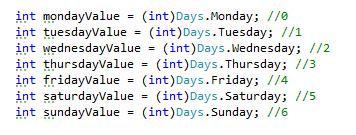 Get int value enum in C#