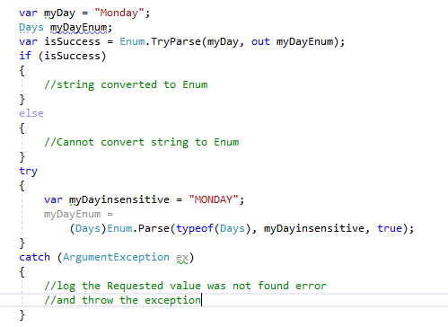 Convert int to enum in C#
