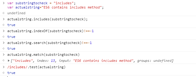 Javascript String Contains: Check If A String Contains A Substring |  Arunkumar Blog